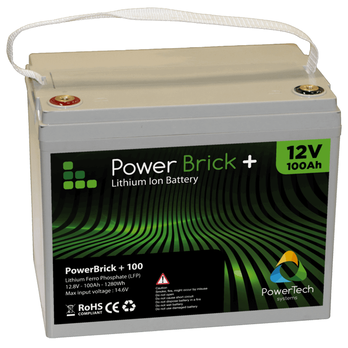 Lithium Ion Battery Pack PowerBrick 100Ah - 12V...