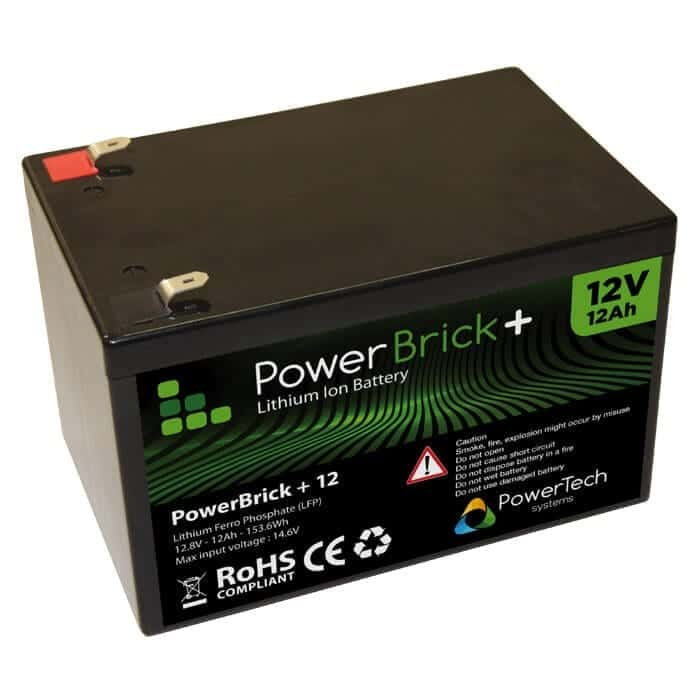 12ah 12v lithium ion battery pack powerbrick. Black Bedroom Furniture Sets. Home Design Ideas