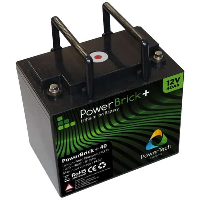 40ah 12v lithium ion battery pack powerbrick. Black Bedroom Furniture Sets. Home Design Ideas