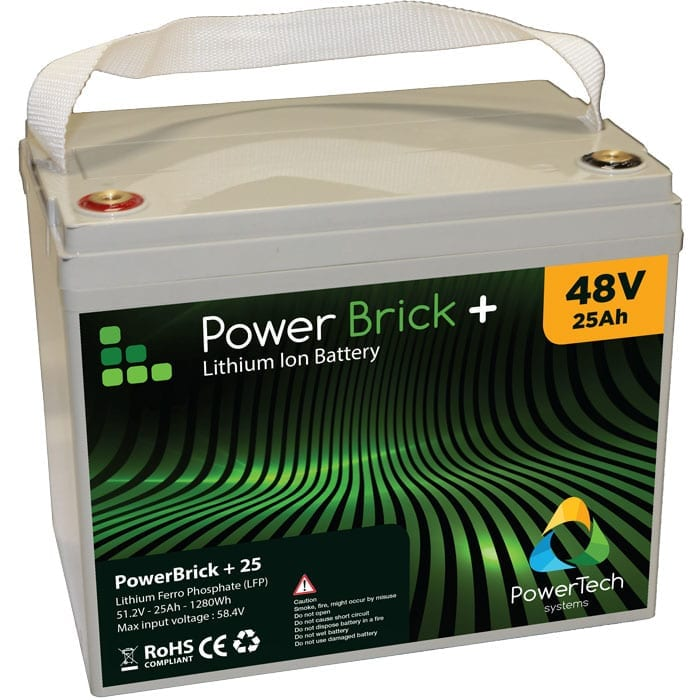 Powerbrick 25ah 48v lithium ion battery pack 48v for Avantage batterie lithium ion