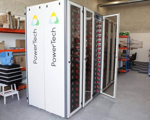 PowerRack Systems – 900VDC – 500kWh Lithium-Ion battery