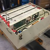 750V – 250kW Lithium battery for the vehicle. Designed around 16 modules in series.