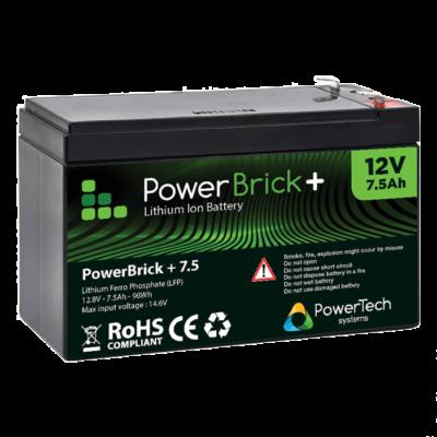 PowerBrick+ 12V-7.5Ah LiFePO4