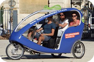 Taxi Bike using PowerBrick battery for pedalling assistance