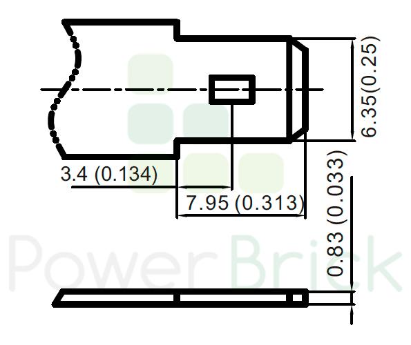 PowerBrick 12V-12Ah - Power Terminal