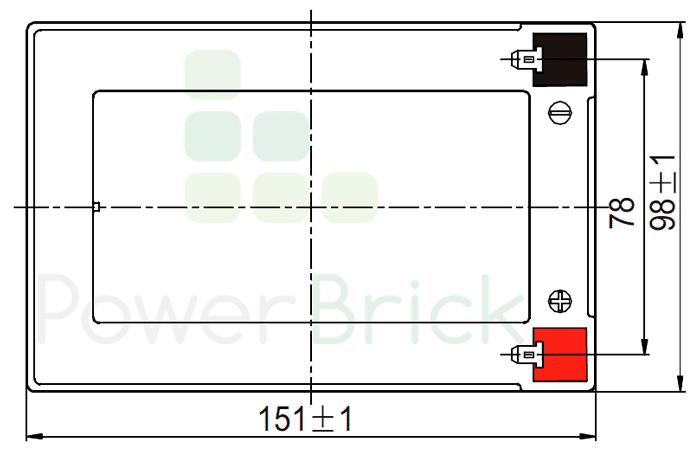 PowerBrick 12V-12Ah - Top