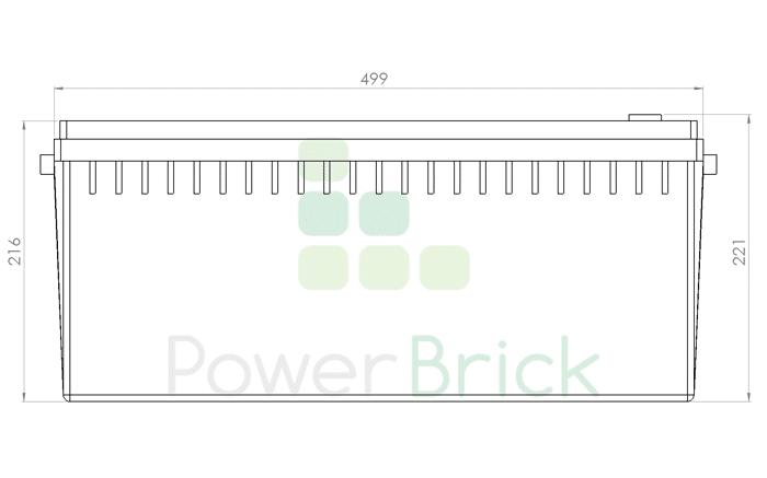 PowerBrick 12V-250Ah - Side