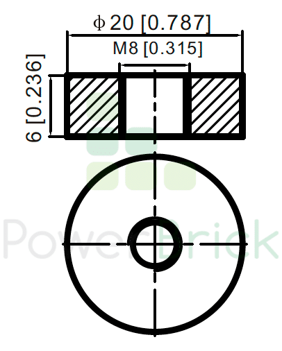 PowerBrick 12V-70Ah - Power Terminal