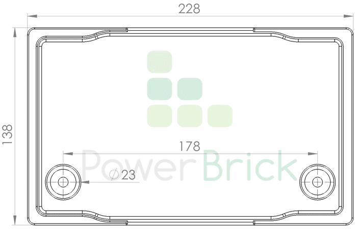 PowerBrick 12V-70Ah - Top