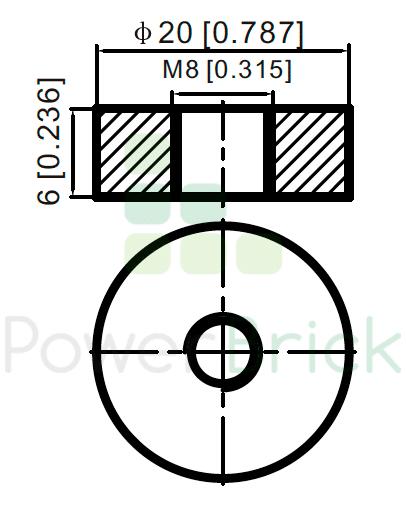 PowerBrick 48V-25Ah - Power Terminal
